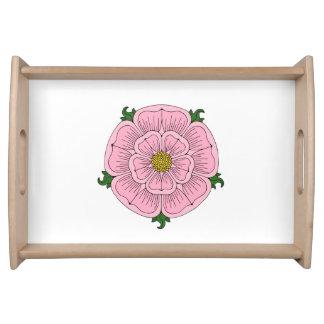 Pink Heraldic Rose Serving Tray