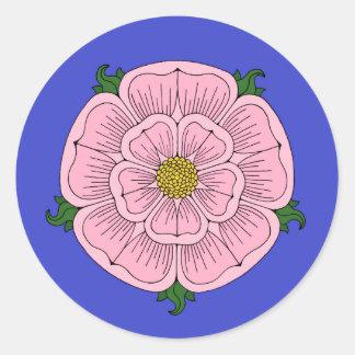 Pink Heraldic Rose Stickers