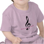 """Pink """"Here Comes Treble"""" Tees"""