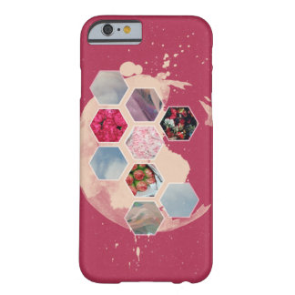 Pink Hexagon Barely There iPhone 6 Case