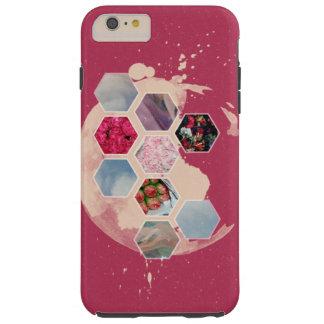 Pink Hexagon Tough iPhone 6 Plus Case