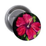Pink Hibiscus 6 Cm Round Badge