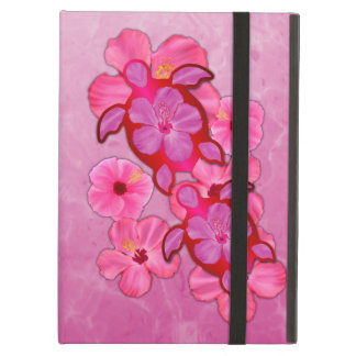 Pink Hibiscus And Honu Turtles Case For iPad Air