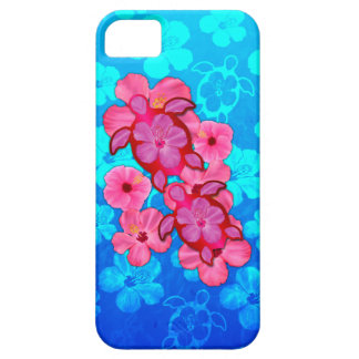 Pink Hibiscus And Honu Turtles iPhone 5 Covers