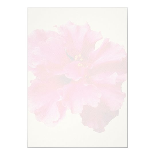 Pink Hibiscus Blank Background Wedding Paper Card