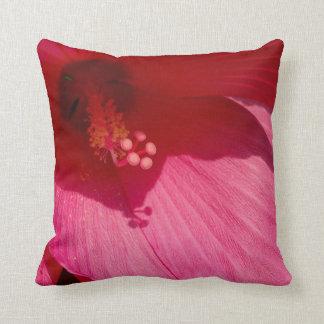 Pink Hibiscus Close-Up Photo Cushion 41 cm x 41 cm