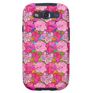 Pink Hibiscus Cover Galaxy S3 Case