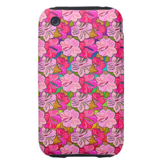 Pink Hibiscus Cover Tough iPhone 3 Covers