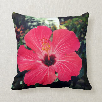 Pink Hibiscus Cushion