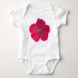 Pink Hibiscus Flower Baby Bodysuit