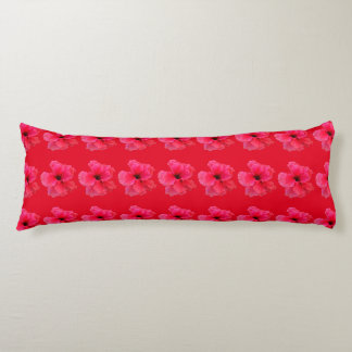 Pink Hibiscus Flower Body Cushion