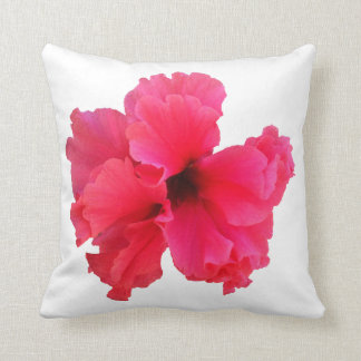 Pink Hibiscus Flower Picture Cushion