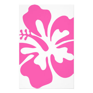 Pink Hibiscus Flower Stationery