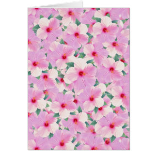 Pink Hibiscus Flowers All-Purpose Card