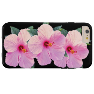 Pink Hibiscus Flowers Tough iPhone 6 Plus Case