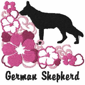 Pink Hibiscus German Shepherd