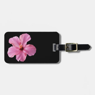 Pink Hibiscus Hawaii Flower Customized Template Luggage Tag