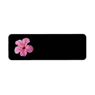 Pink Hibiscus Hawaii Flower Customized Template Return Address Label