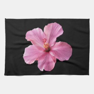 Pink Hibiscus Hawaii Flower Customized Template Tea Towel