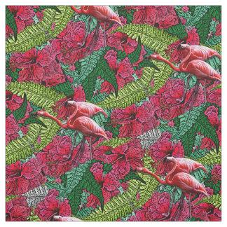 Pink Hibiscus Hawaiian Flamingo Fabric