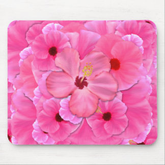 Pink Hibiscus Mouse Pads