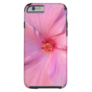 Pink hibiscus tough iPhone 6 case