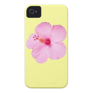 Pink Hibiscus Tropical Flower iPhone 4 Case-Mate Case