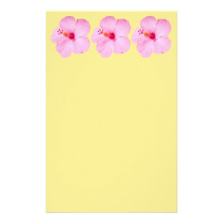 Pink Hibiscus Tropical Flower Stationery