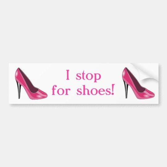 Pink High Heel Shoe Bumper Sticker