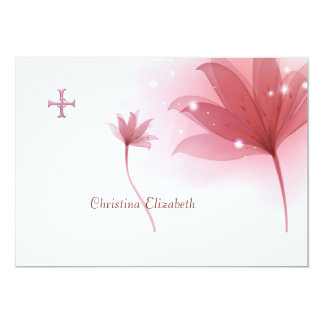 Pink High Personalized Religious Thank You Personalized Announcement