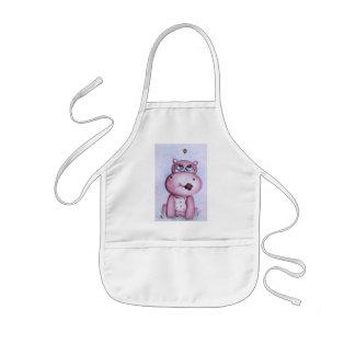Pink Hippo Apron