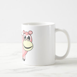Pink Hippo Love Coffee Mug