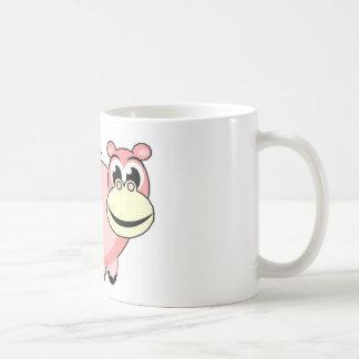 Pink Hippo Love Coffee Mugs