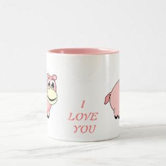 Pink Hippo Love Mug Mugs