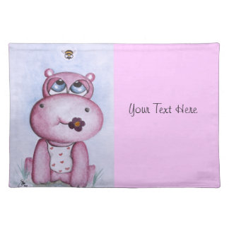Pink Hippo Placemat
