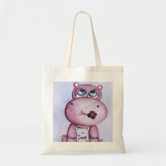 Pink Hippo Tote Bag