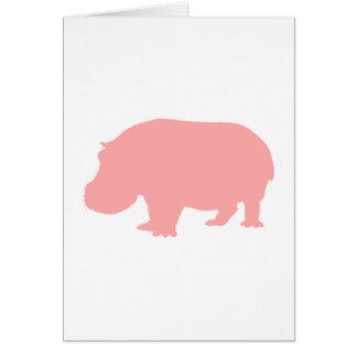 Pink Hippopotamus Greeting Card