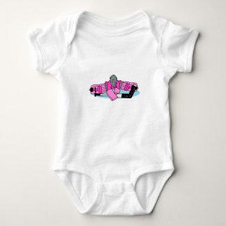 Pink Hockey Goalie Baby Bodysuit