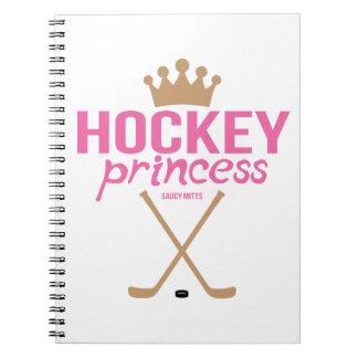 Pink Hockey Princess Spiral Note Book