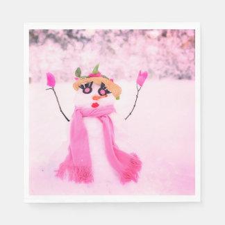 Pink Holidays Disposable Serviettes