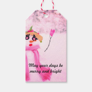 Pink Holidays Gift Tags