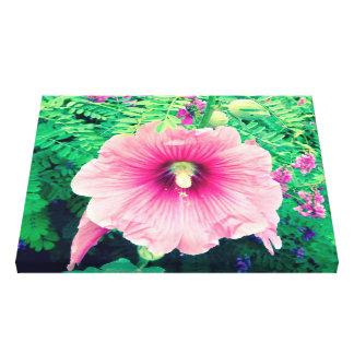 Pink hollyhock canvas print