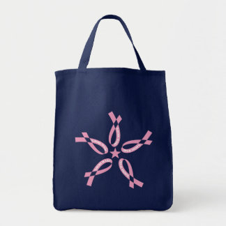 Pink Hope Grocery Tote Bag
