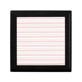 Pink Horizontal Pinstripe Gift Box