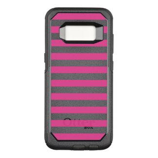 Pink Horizontal Stripes OtterBox Commuter Samsung Galaxy S8 Case