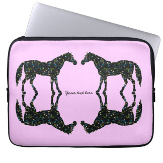 Pink Horse Reflections Laptop Sleeve