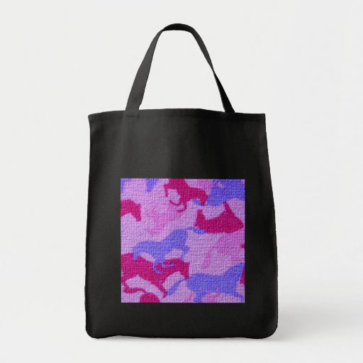 Pink Horses Canvas Bag