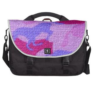 Pink Horses Canvas Computer Bag