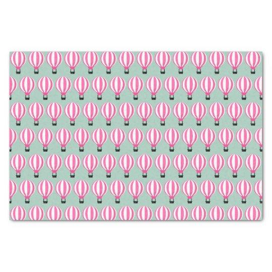 Pink Hot Air Balloon Paris Themed Tissue Paper