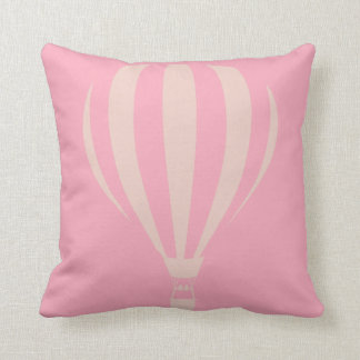 Pink Hot Air Balloon Throw Cushion